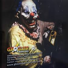 2017 catalog back cover ghoulishproductions halloween clown
