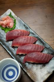 saké de cuisine japanese cuisine tuna sushi and sake stock image image 22192393
