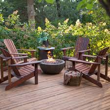 Patio Furniture With Fire Pit Set - belham living richmond deluxe adirondack fire pit chat set an
