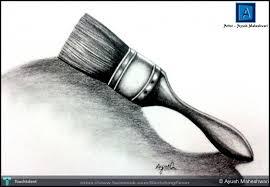 ayush maheshwari artwork object drawing brush sketching by