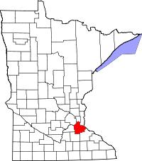 mn counties map dakota county minnesota