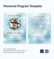 memorial program templates 11 sle memorial program template free sle exle format