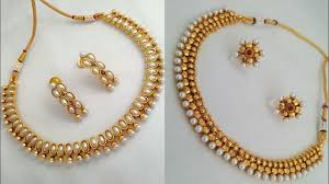 beautiful earring necklace set images Beautiful simple kundan necklace set with earrings design choker jpg