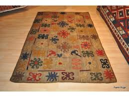 Handmade Wool Rug Authentic Genuine Handwoven Kazakh Rug Made Out Of 100 Natural