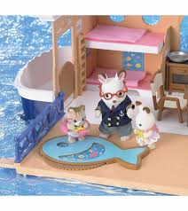 Calico Critters Play Table by Calico Critters Seaside Cruiser Houseboat