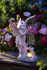 Outdoor Decor Statues Solar Powered Angel Holding Dove Garden Statue Led Light Outdoor
