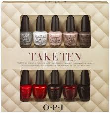 opi nail polish lacquer mini gift set take ten 3 75 ml pack of