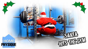 santa hits the gym for christmas workout powerlifter style youtube