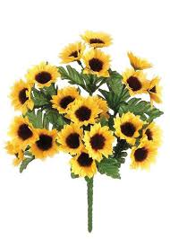 silk sunflowers mini sunflower bush in yellow gold diy silk flowers afloral