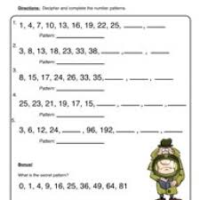 patterns worksheet 1