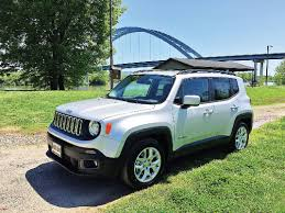 jeep renegade light blue test drive chasing down a renegade times free press