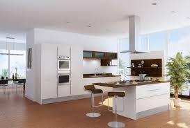 cuisine blanche avec ilot central cuisine blanche avec ilot central 5 cuisine en l moderne avec