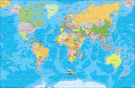 Borderless World Map by Maps World Map Of Asia