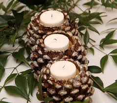 pine cone decoration ideas exciting candle holders lighting made from pine cone decorations