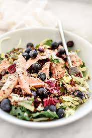 superfood salad with lightened up poppy seed dressing