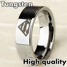 Superman Wedding Ring by 8mm Bridal Mens Superman Silver Tungsten Engagement Ring Ceremony