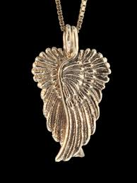 angel wing gold necklace images Guardian angel wing pendant 14k gold jewelry jpg