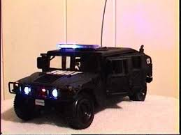 remote control police car with lights and siren 1 18 swat team hummer police car with working lights and siren
