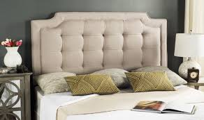 sapphire taupe tufted linen headboard headboards furniture by