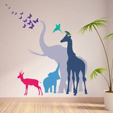 animal wall stickers seven safari animal wall stickers new sizes