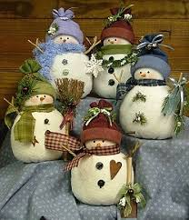 countryside crafts odds ends snowmen pattern primitive