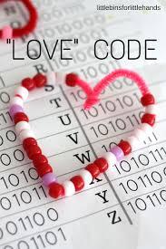 Valentine S Day by Valentines Day Coding Stem Binary Alphabet Beaded Hearts