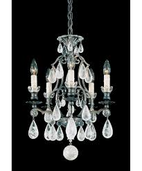 versailles chandelier schonbek 2469 versailles rock crystal 15 inch wide 5 light mini