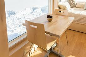 tiny home dining table square foot tiny home offers a cool personalized escape