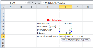 loan formulas best excel tutorial how to calculate emi