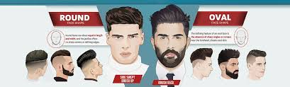 haircuts for men with oval shaped faces best men s hairstyle according to face shape infographic