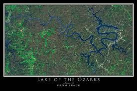 ozarks map lake of the ozarks missouri satellite poster map terraprints com