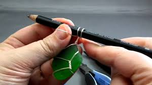 How To Make Jewelry Out Of Wire - how to wire wrap beach glass the easy way youtube