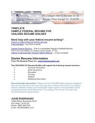 Federal Resume Format Template Usajobs Resume Template Cover Letter Usa Resume Template