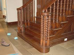 wooden stairs design decorations luxury contemporary wood stair using iron ornate