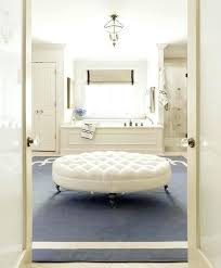 Bathroom Ottoman Storage Bathroom Ottoman Ivory And Blue Bathroom With White Oval Tufted