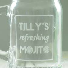 mojito cocktail bottle mojito cocktail personalised kilner drinking jar by chalk and