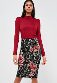pencil skirts peace black lace pencil skirt missguided