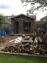 transform the end of your garden building a summer house u2013 diy
