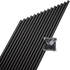 deckorail 3 4 in x 26 in black aluminum round baluster 15 pack