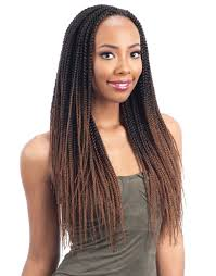 feathered front of hair freetress crochet braid pre feathered box braid 20 inch