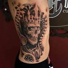 spotlight black and grey horror by travis greenough tattoodo