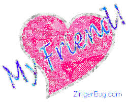 friendship heart my friend heart glitter text glitter graphic greeting comment