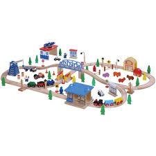 Imaginarium Train Set With Table 55 Piece Maxim 100 Piece Wooden Train Set Walmart Com