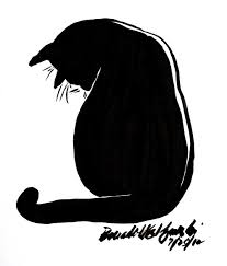 Halloween Black Cat Silhouette Post Views 82 There Is Something I Love About Kitty Shapes And