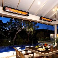 outdoor electric patio heaters patio u0026 outdoor cozy backyard living space with wooden dining set
