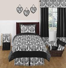 Black And White Comforter Full Black And White Damask Bedding Small Chic Black And White Damask