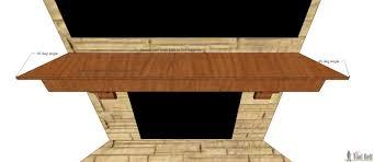 diy fireplace mantel shelf her tool belt