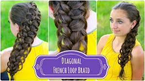 cute girl hairstyles how to french braid diagonal french loop braid cute braid hairstyles cute girls