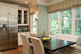 upholstered breakfast nook window treatment ideas for kitchen nook u2013 day dreaming and decor