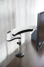 single lcd monitor desk mount stand white deluxe gas spring 1